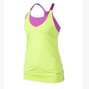 Oakley Womans Energy Tank Top - Lime Green | M